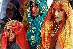 Hindu women in purdah