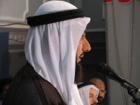 Bahraini man wears a ghutra with agal (black cord)